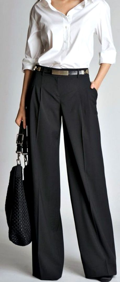 How to wear wide trousers