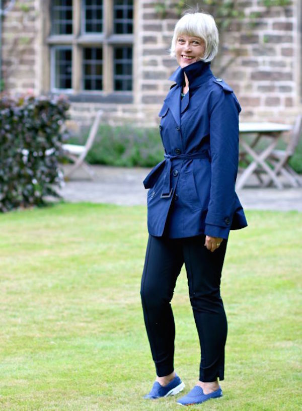 Winserlondon summer trench with collar up