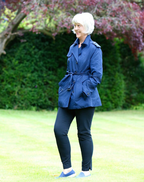 winserlondon navy short trench