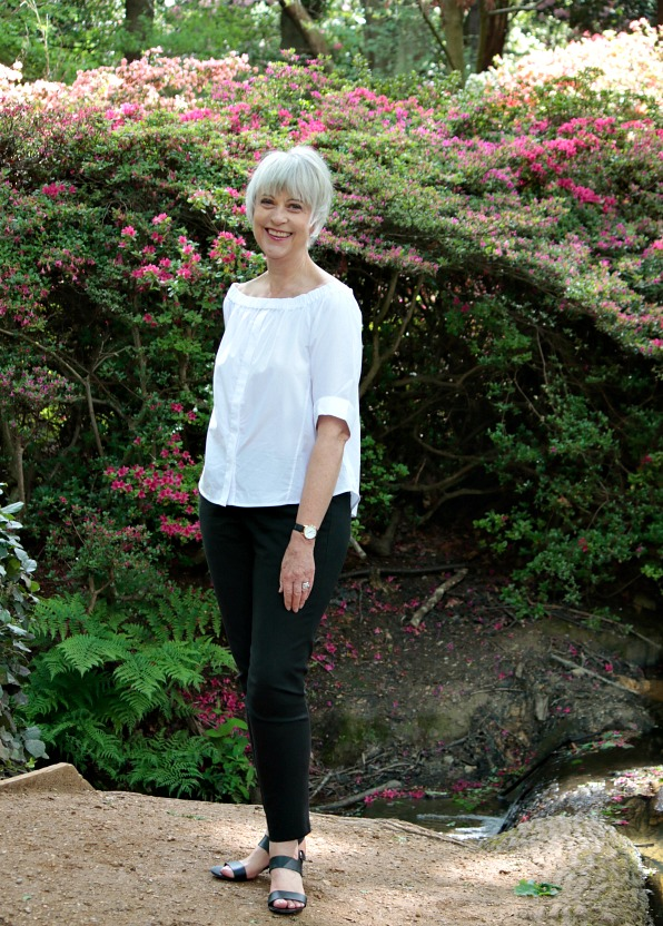 Whistles white top and black trousers