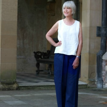 How I wear wide summer trousers