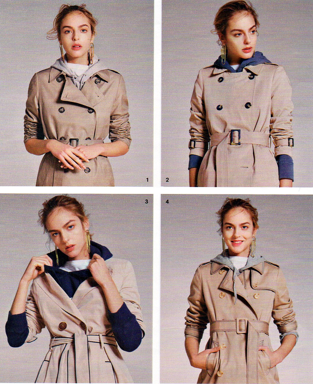 Trench coats worn casually