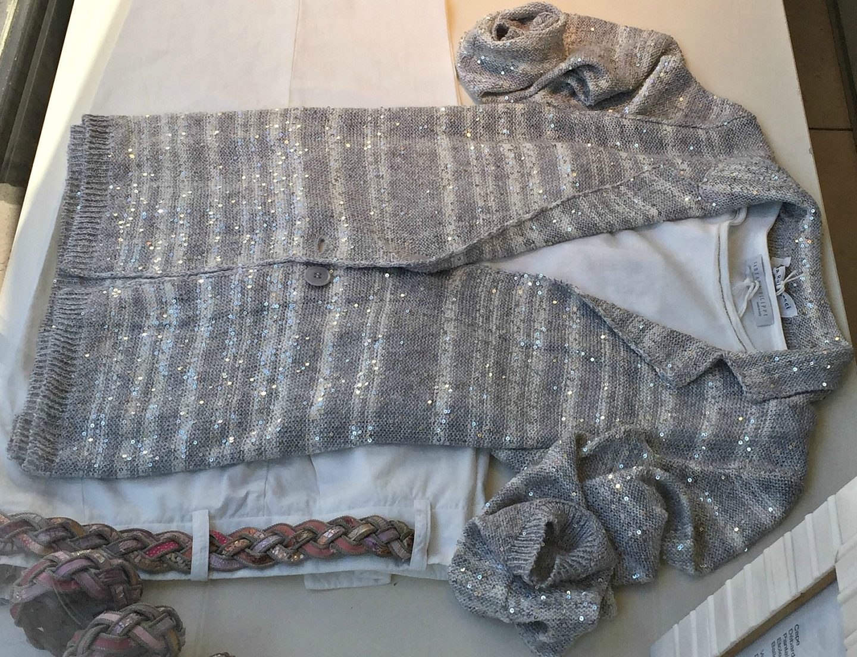 Grey lurex cardigan