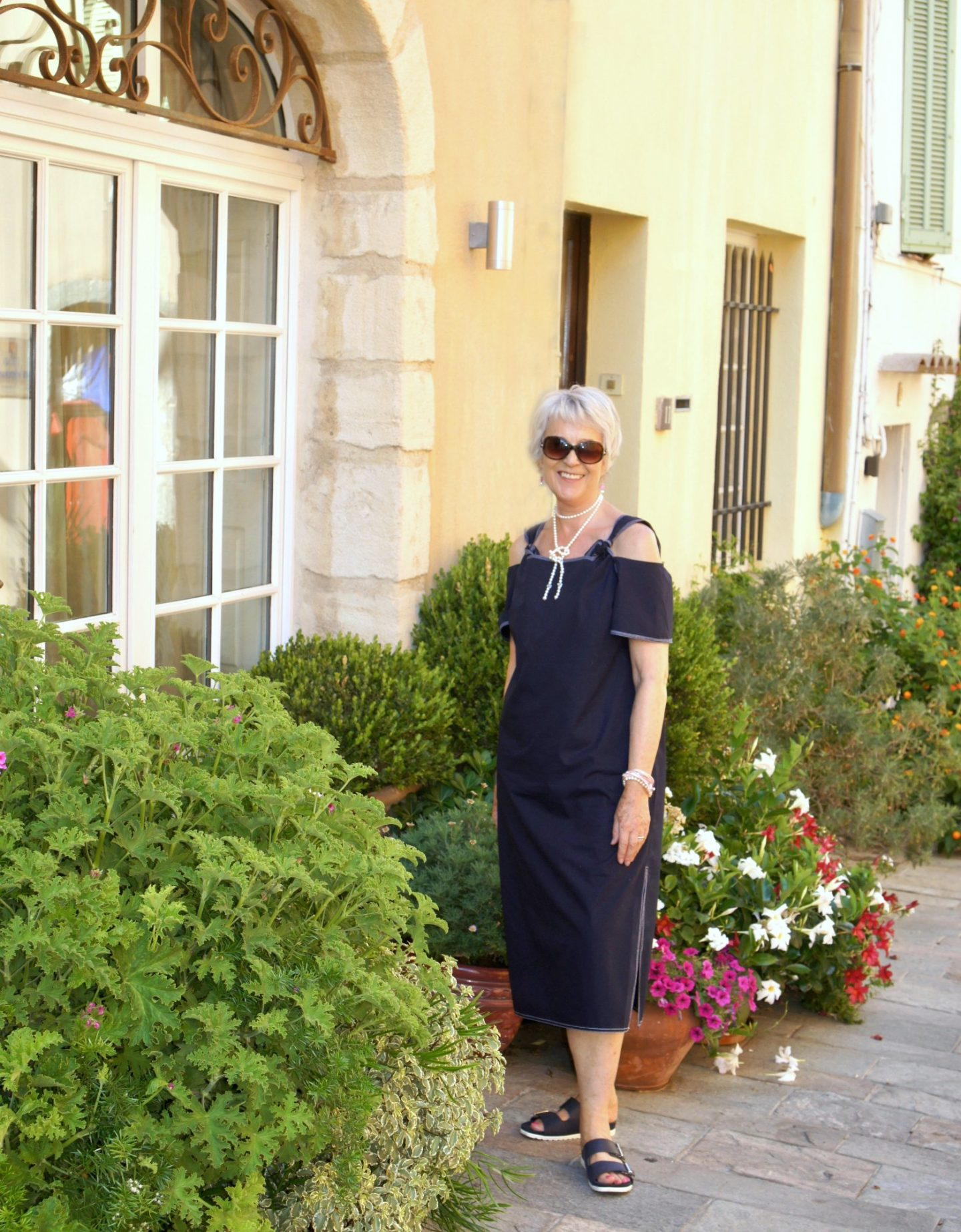 How I wore my cold shoulder cotton dress