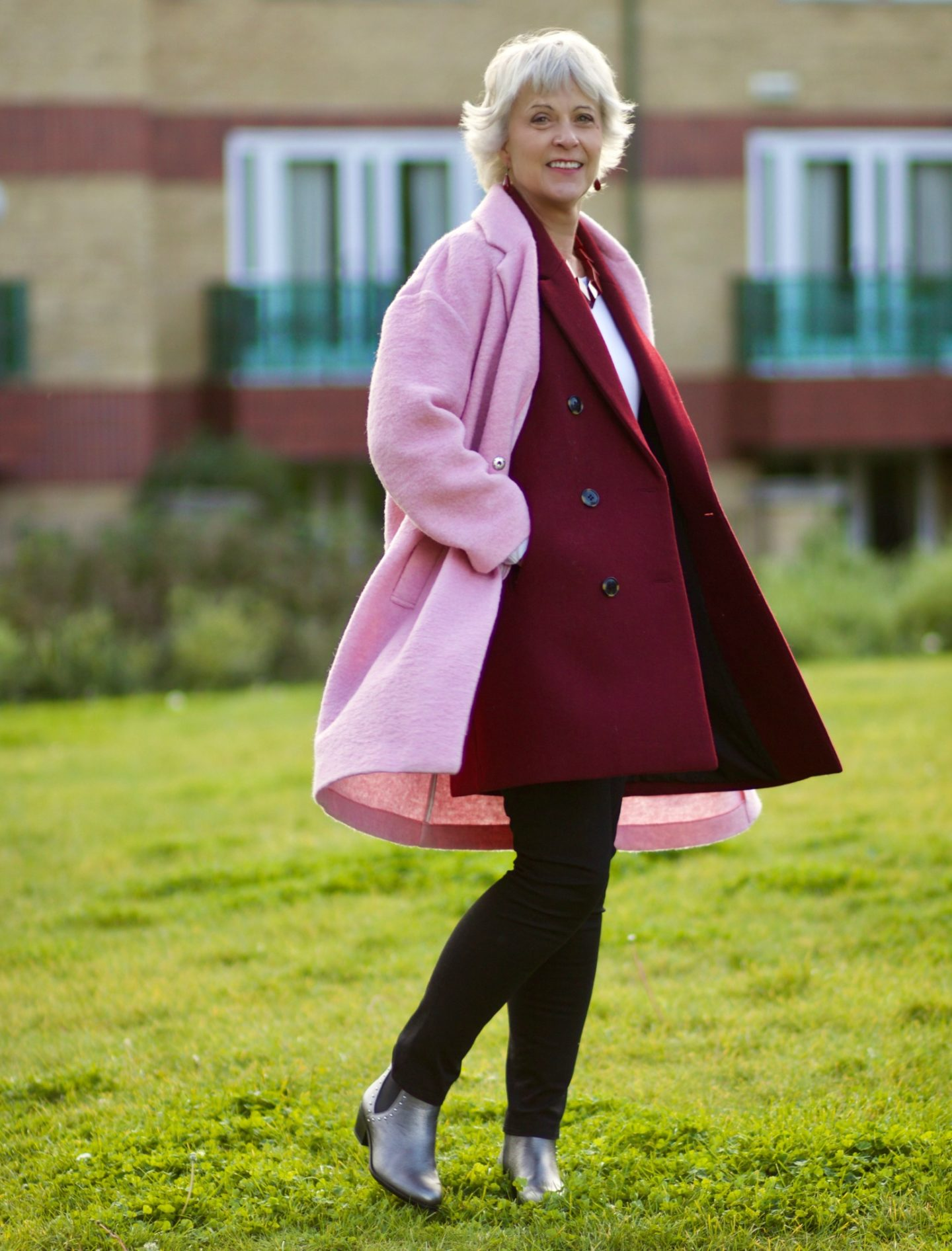 Bright coloured coats for autumn