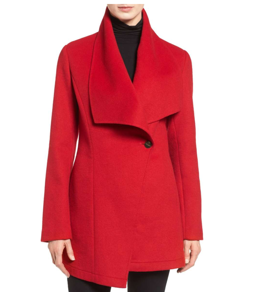 Red coat from Nordstrom