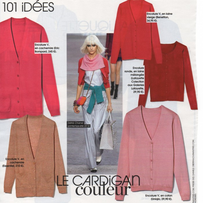 French mag pink cardigans