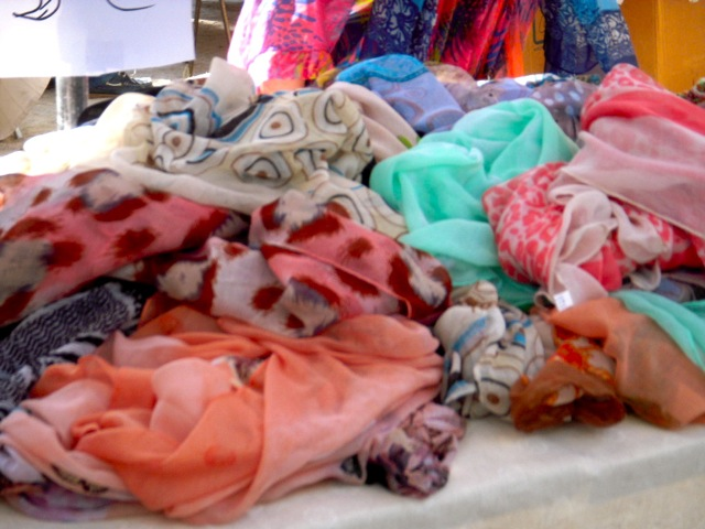 scarves in market