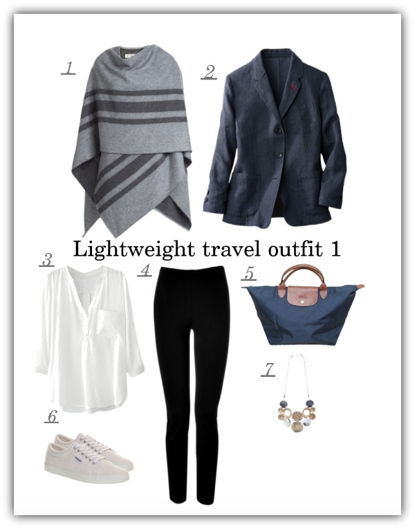 Capsule travel outfit