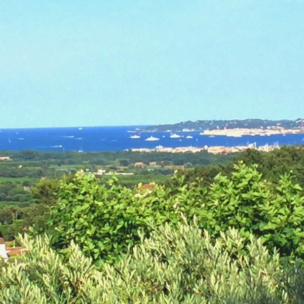 The Bay of St. Tropez from church