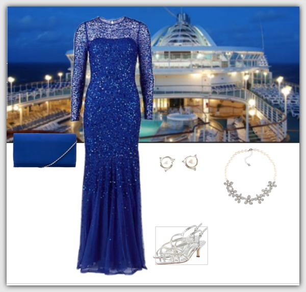 Fashion advice for women 40+ Formal evening cruise dress