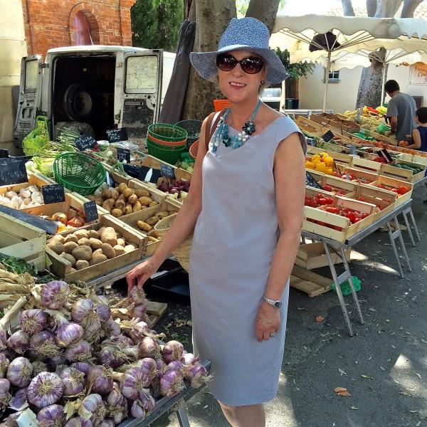 Grimaud village market France