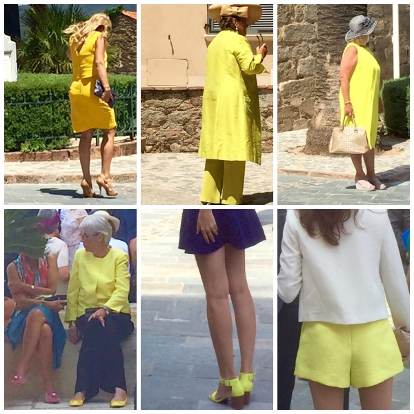 French Weddings June 2015 Yellow outfits