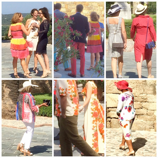 French wedding coral outfits