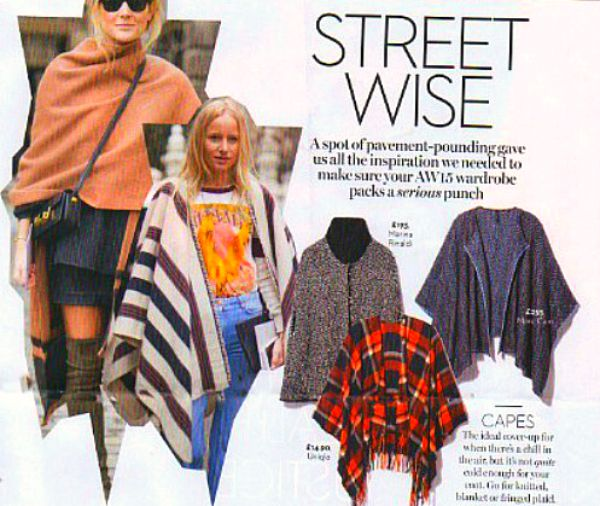 Capes/ponchos continue on trend for Autumn 2015