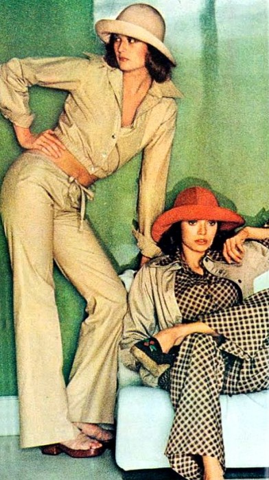 How to wear wide trousers - YSL 1970s