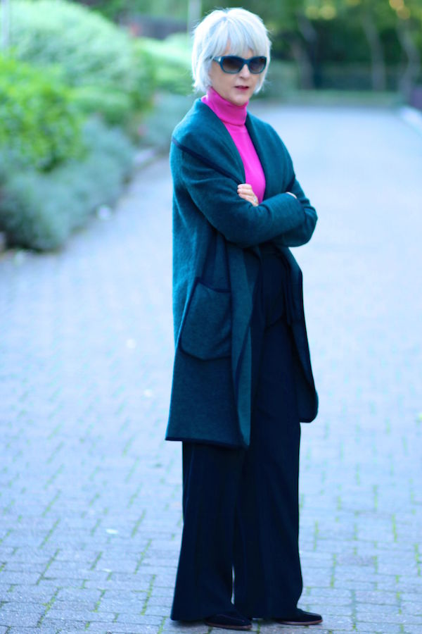 How to wear a wrap coat this season