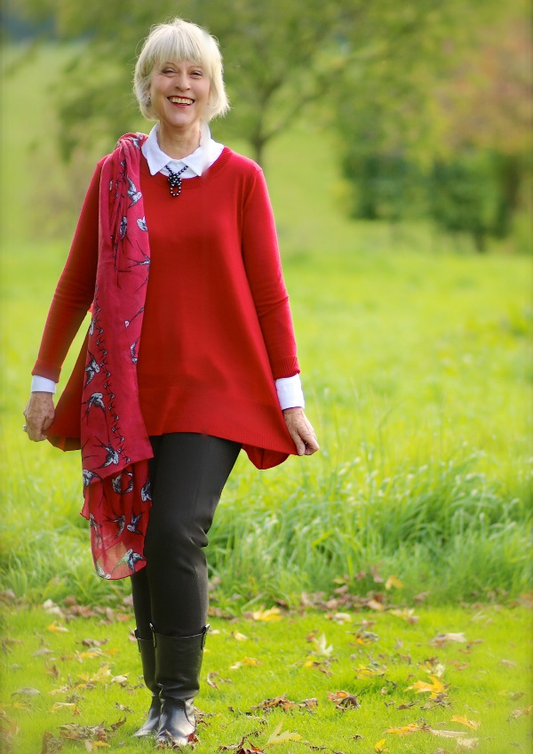 How to wear red for autumn