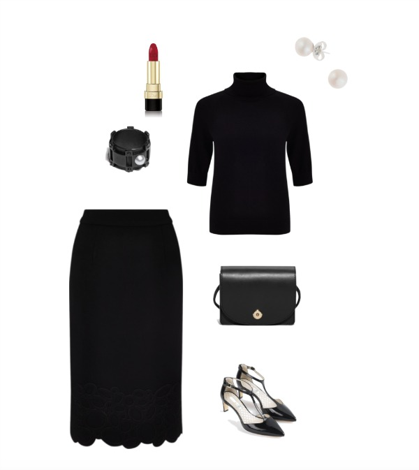Black skirt & top