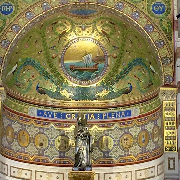 Inside Cathedral de la Garde
