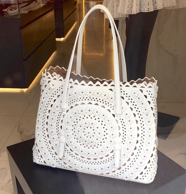 White handbag St. Tropez window