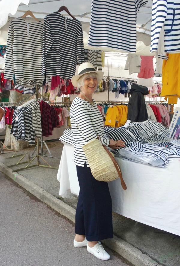 Petit Bateau breton top in St. Tropez market