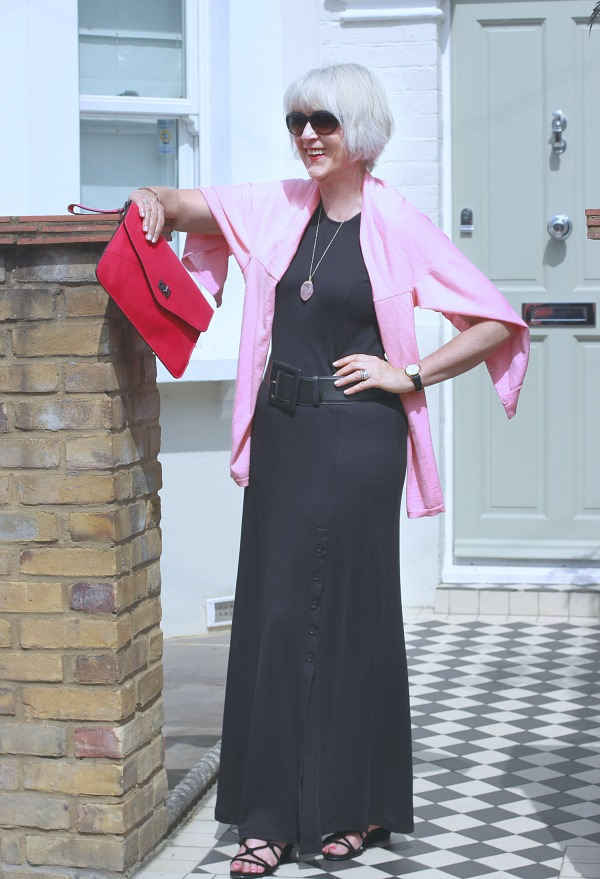 641e30dbad5 How to accessorise a long black dress - Chic at any age