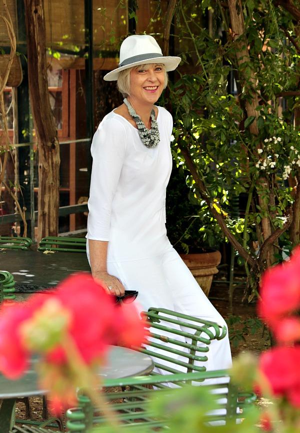 Wearing white in summer