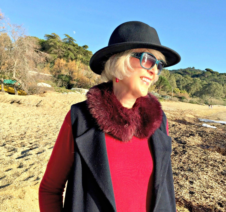 Pop of colour on the beach
