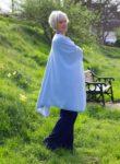 How to wear sky blue