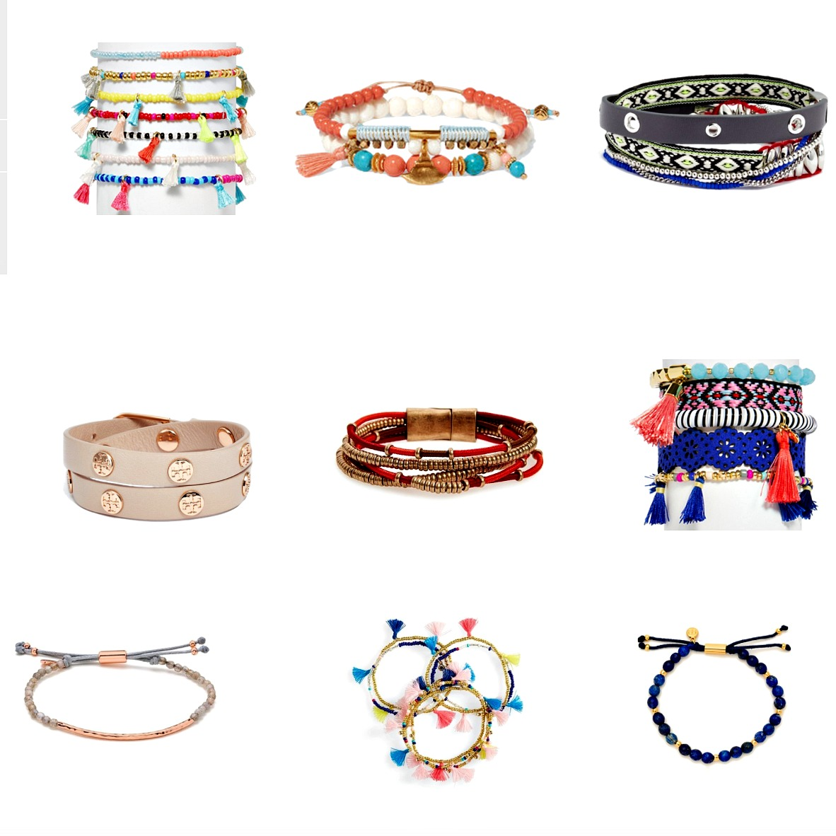 Ethnic bracelets make chic holiday accessories