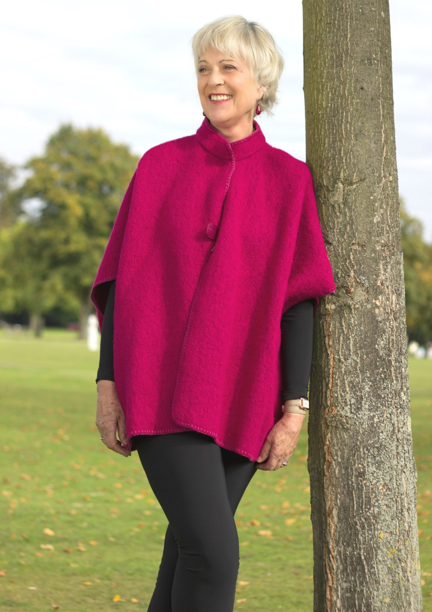 Bright coloured capes liven up winter
