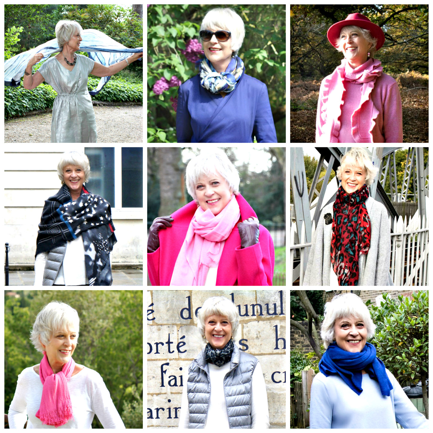 Scarves add colour and update your look