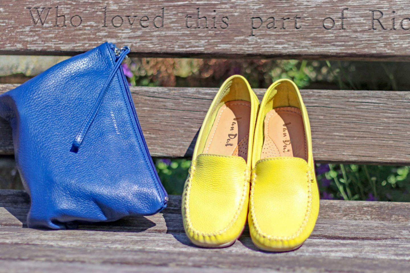 Add a pop of colour with comfortable shoes