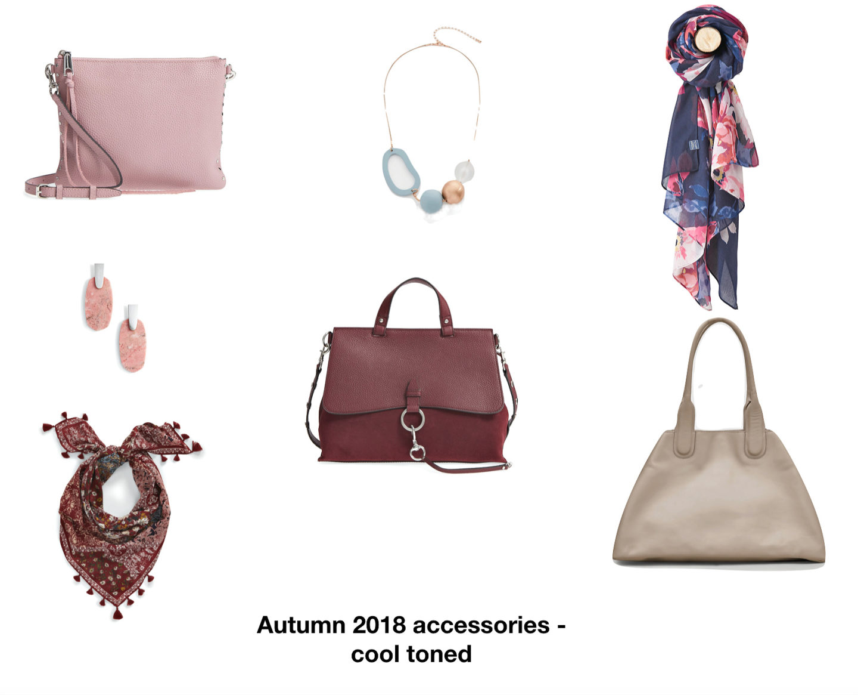 Autumn 2018 handbags, jewellery and scarves