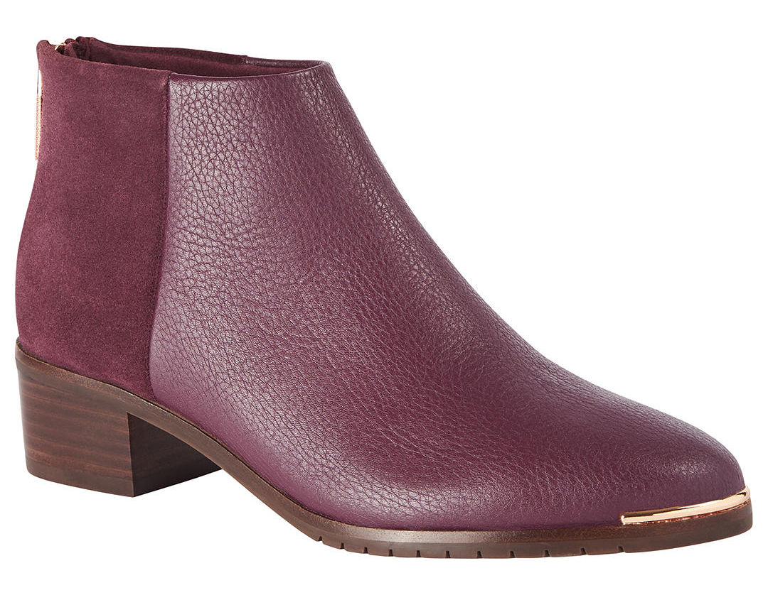 Ted Baker burgundy ankle boots