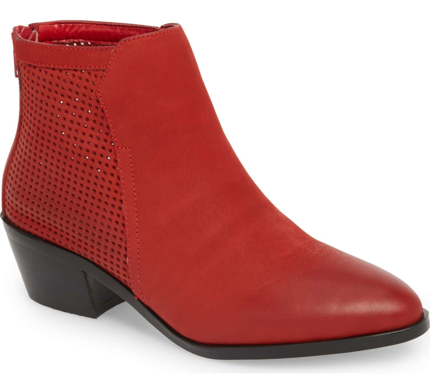Red ankle boots Nordstrom