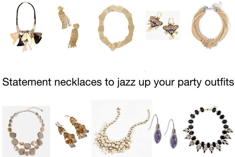 Statement jewellery to enhance your party outfits