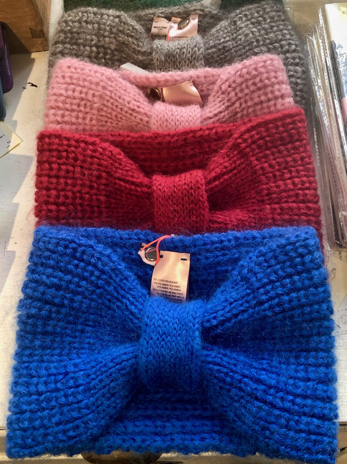 Knitted headbands Paris