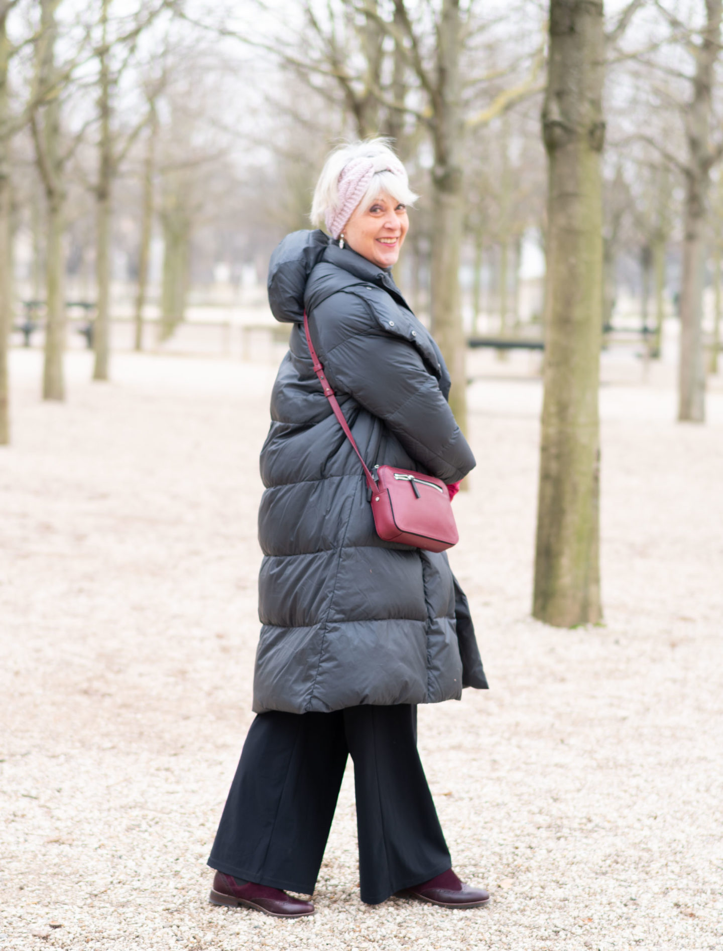 Puffer coat in Paris