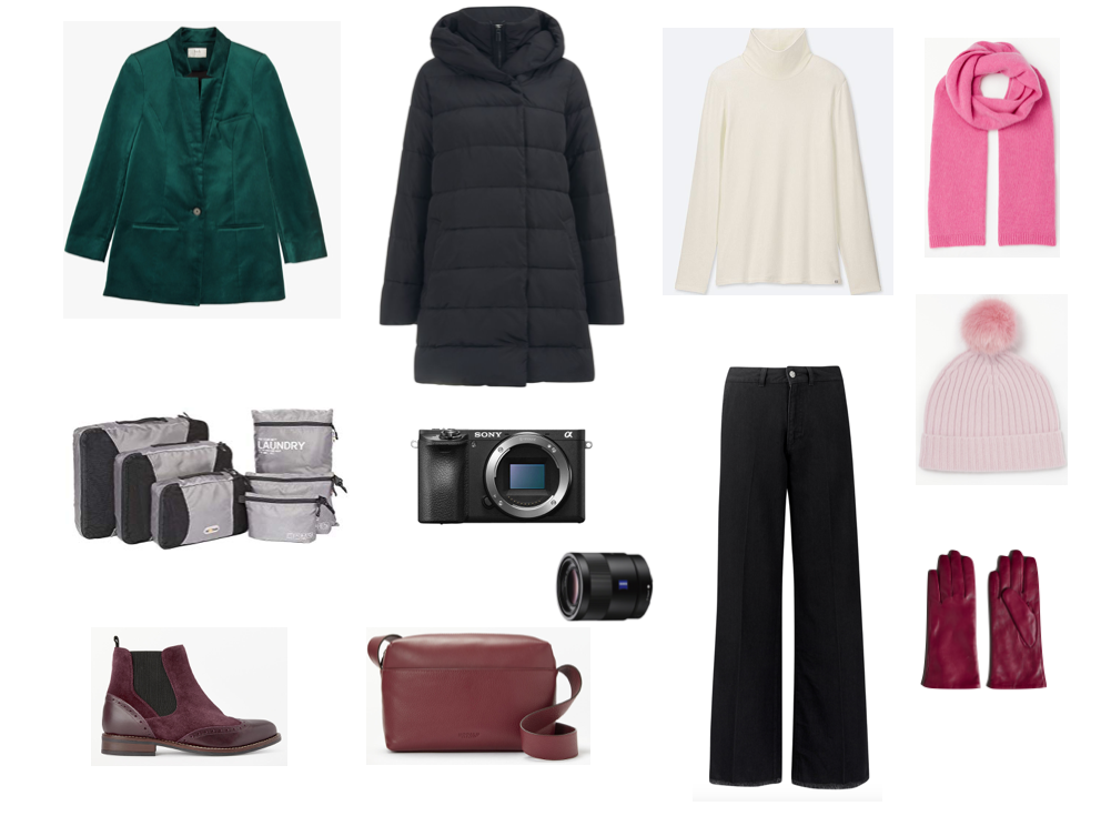 Capsule wardrobe for two days in Paris