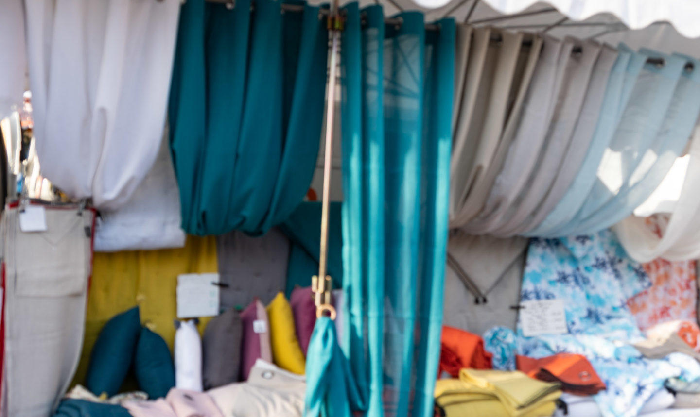 St.Tropez market and scarves