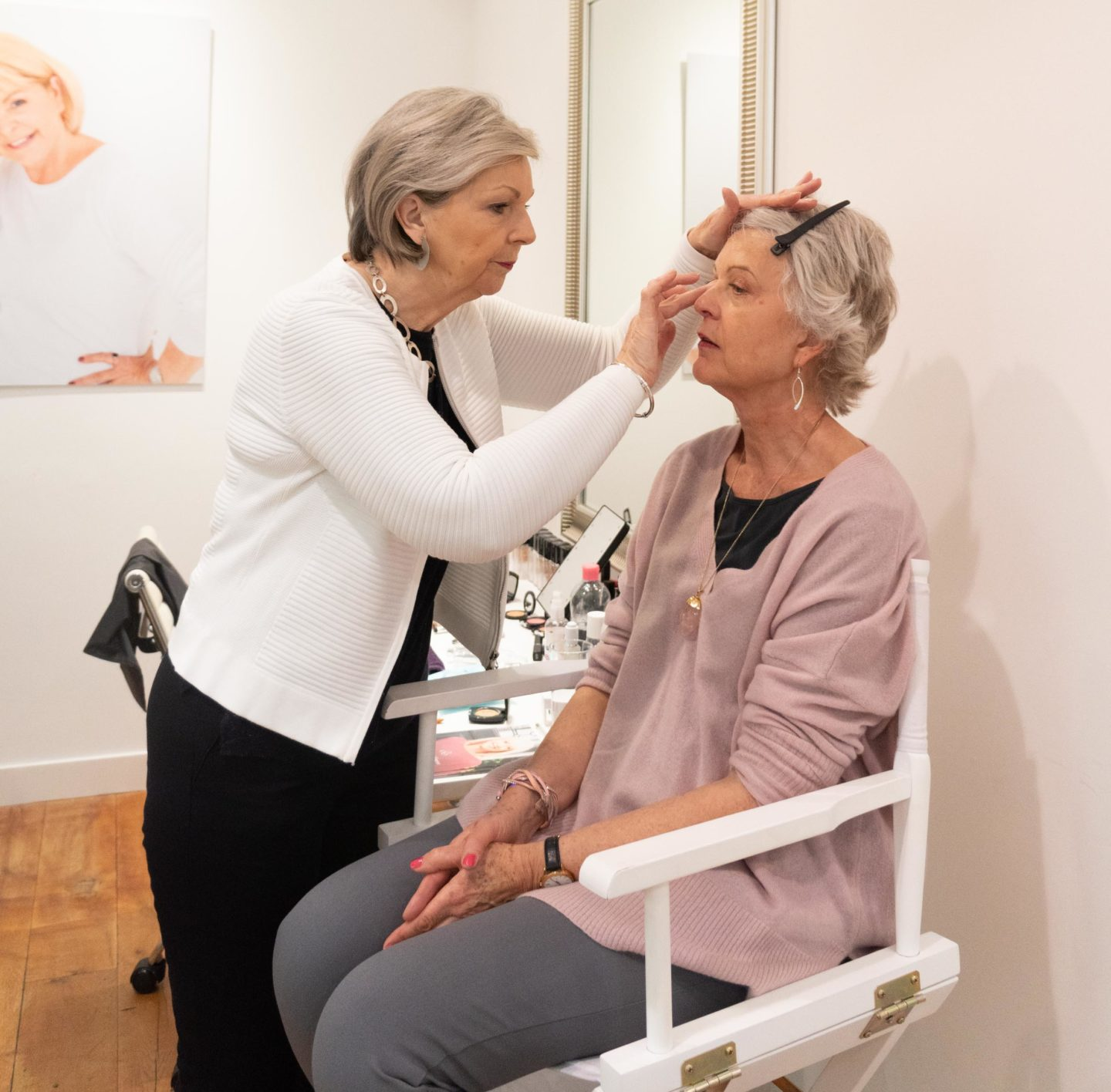 Eye makeup for older women