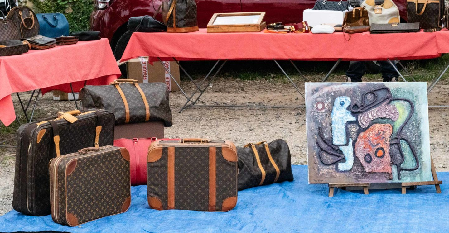 vintage Louis Vuitton suitcases