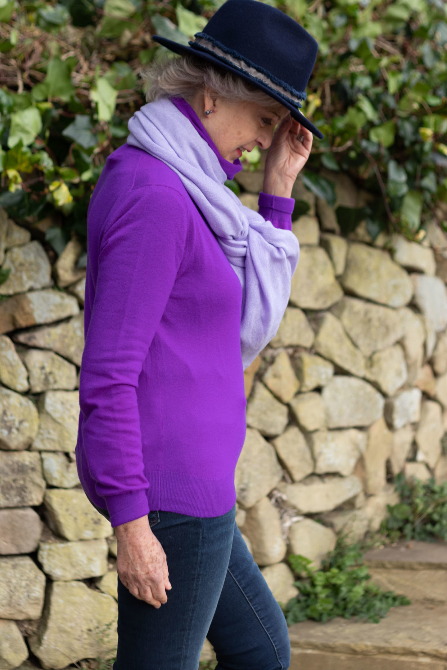 Purple cashmere sweater