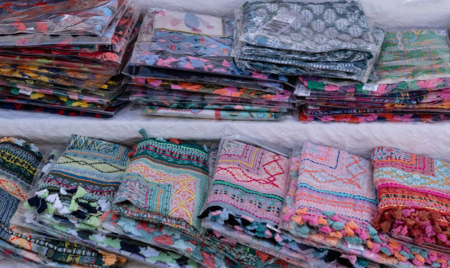 French cotton scarves