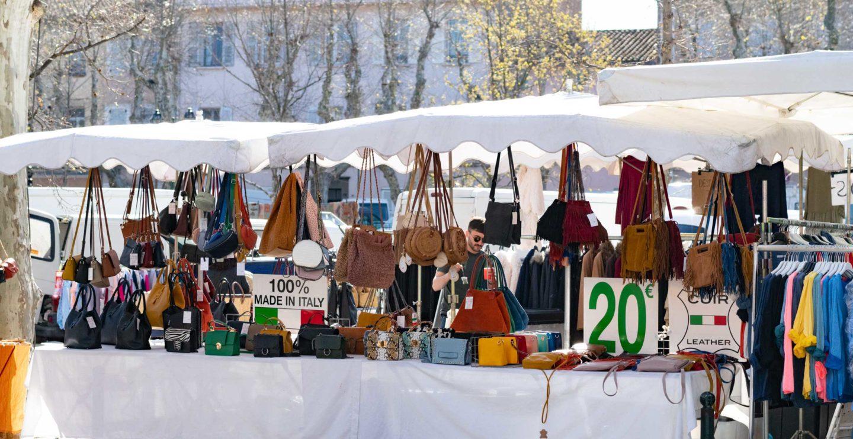 St Tropez market stalls
