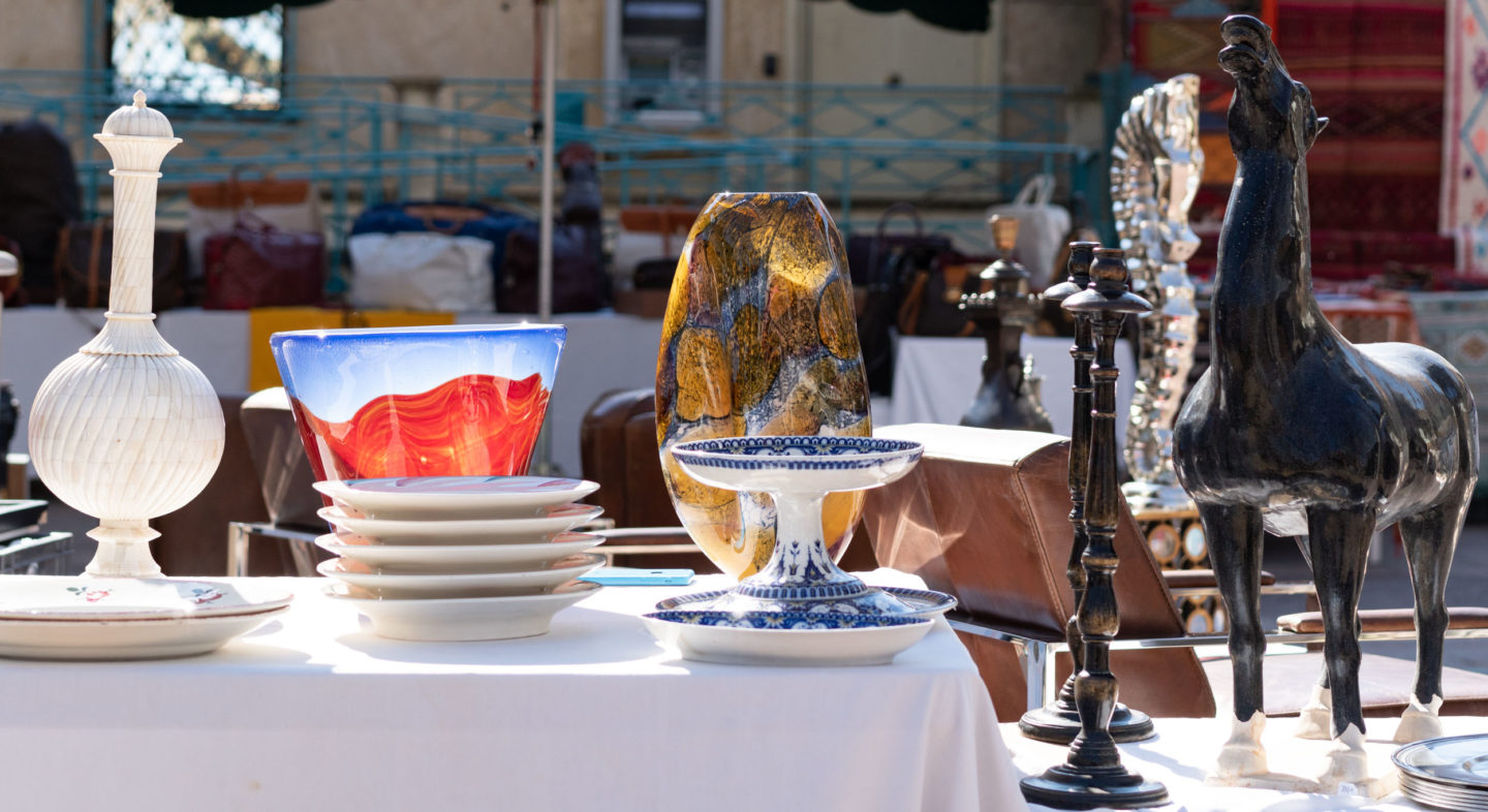 Antique stalls at St Tropez market