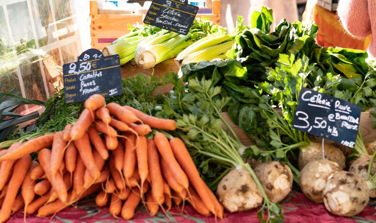 Vegetables in the local french market