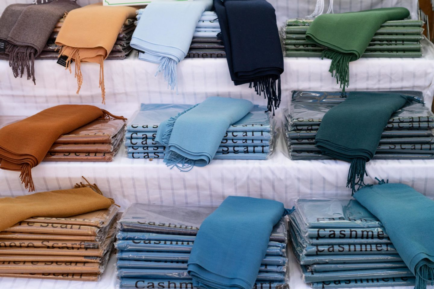 French cashmere/silk scarves